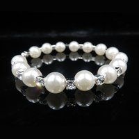 accessories for bracelets - Only Cheap Shinning Rhinestone Crystals Pearls Bangle Bracelet For Wedding Party In Stock Bridal Jewelry Accessories