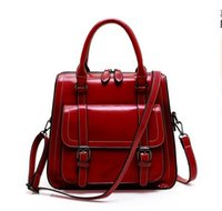 Wholesale 2016 new European brand PU bags of oil wax head layer cowhide handbag retro Crossbody Bag