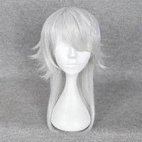 aoba cosplay - Dramatical Murder DMMD Seragaki AOBA Long white mix cosplay wig Anime Tsurumarukuninaga Party wig cap BE3041