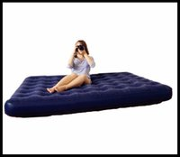 Wholesale New Camping mat series flocked pvc Double Air Mattress Indoor And Outdoor For Household Flocking Inflatable Bed Multiple Sizes DHL Free