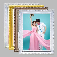 Cheap Newly 6 7 8 10 inch Vintage Wood Wedding Photo Frame Classic Picture Holder Exquisite Ornaments for Home marcos de fotos JP0027