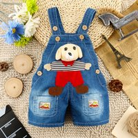Wholesale 2016 Summer New Baby Boys Overalls Shorts Suspender Pants for Year Old