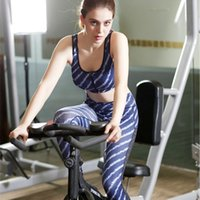 Wholesale Stripe Anti Shocking Sport Bars Print Qucik Dry Protect Breast Sleeveless Sweat Releasing Womens Yoga Tops