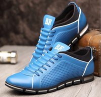 Wholesale 2016 The latest men s shoes in summer Round head business men s leather shoes Breathable hollow out shoes