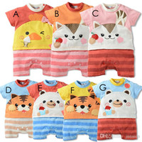 baby products cheap - 2016 Summer Cheap Infants And Young Children With Short Sleeves Baby Crawl Sportswear Boys And Girls Clothes Size M New product