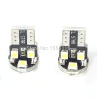 Wholesale Car Led Clearance Lights pair White SMD LED Bulbs T10 V SMD chip Lights For Car