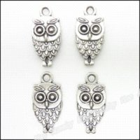 antique yellow owl - 65 Vintage Charms Owl Pendant Antique silver Fit Bracelets Necklace DIY Metal Jewelry Making