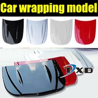 application display - xterior Accessories Car Stickers CM Hood model Car wrapping display model for car sticker application showing without painting