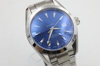 auto zone sales - Hot Sale OM Brand Auto watch For Men Blue Dial Analog Sea Master Glass Back Full Stainless Steel Band Constelletion Watch
