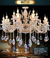 Wholesale 2016 Limited Suspension Luminaire Large Crystal Hotel Chandeliers Decorative Light Square Lamp crystal Light european Jade Chandelier