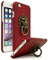 apple snacks - iPhone s Case Ultra Slim Protective Lion Head Door Knocker Snack Skin Texture PC Cover for iphone s plus SE S Polybag