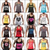 Wholesale Cotton Captain America Tank Top Fitness Gym Vest Men Stringer Singlet Bodybuilding Sport Undershirt casual Clothes Muscle Singlet New