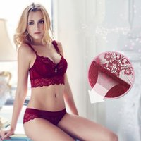 Wholesale Fashion Sexy Floral Lace Beautiful Female Lingerie Women Underwears Push up Bra and Panties Sets