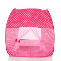 Wholesale Portable Folding Princess Play Tent Children Kids Castle Cubby Play House Indoor and Outdoor Kid Playhouse Tent Easy to Setup Safe and Stu