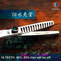 barbering tips - Japan Customized quot Inch Teeth Hair Off Hot Super Sharp Tip Hair Thinning Scissors For Barber Shop K1 E3