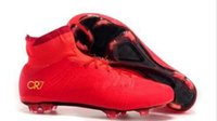 best men s boots - Best football shoes men s CR7 CR501 boots new Ronaldo cr7 Red soccer boots superflys football boots high tops soccer cleats s
