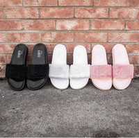 best hotel beach - DHL Shipping The Best Quality RIHANNA LEADCAT FENTY WOMEN SLIPPERS FUR SLIDES