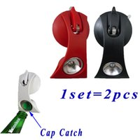 Wholesale Patent Suction Beer Bottle Opener with Cap Catch Suck on Smooth Surface no mount