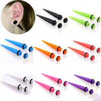 fake gauges - Hot Illusion Ear Fake Cheater Stretcher Rivet Taper Plug Tunnel Gauges MM Body and piercing jewelry