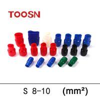 Wholesale TOOSN Terminal connector color Soft Sleeve Insulation Crimp terminal Wire terminal car End caps V8