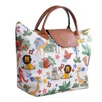 femmes pliantes achats sac fleur imprimer oxford épicerie sac shopper marché femme sac de transport solide fourre-tout