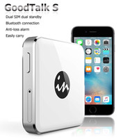 Wholesale 2016 Newest Mini Bluetooth No Jailbreak Dual Sim Card Dual Standby Magic SIM Adapter for iPhone iOS Gmate GoodTalk S