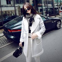angora fur - 2017 Winter Long Parkas Angora Coat Women Cotton Jackets Casual Solid Fleece Patchwork Warm Overcoat Korean Style FS0867