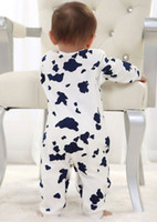 Wholesale Cute Cow Newborn Girls Boys Clothes Baby Outfit Infant Romper Clothes M