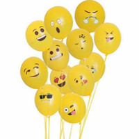 Wholesale 12 inch emoji round balloon emoji toy kids adult toy bunch balloon birthday party decoration
