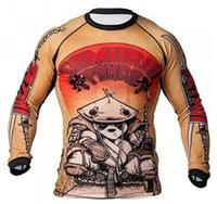 Wholesale man fight tops sleeve t shirt tatami samurai panda long sleeve Rashguard Shapers F039