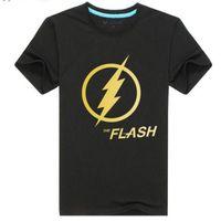 alan fashion - New Flash Barry Alan Star T shirt Bronzing Short Sleeved T shirt Handsome Men Play T Shirt Men Mens T Shirts Fashion