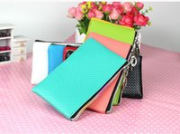 Wholesale Rainbow Zipper Coin Purse Mini Handbag Key bag change purse cell phone bag iphone container model No bag18