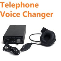 Wholesale Funny Telephone Voice Changer Professional Disguiser Phone Transformer SPY Bug Change Voice Dropship