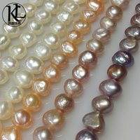 baroque pearls wholesale - Natural freshwater pearl mm mm baroque special shaped beads semi finished pearl necklace strands strong luster