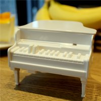Wholesale Creative Design Piano Toothpick Box UV Disinfection Toothpicks Holder Box Plastic Automatic Toothpick Dispenser Case Health Care Products