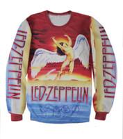 animals top songs - 2016 Autumn Winter Men Women Sweatshirt LED ZEPPELIN Swan Song D Print Sweet Lover Couple Funny Sweater Shirts Tops Hoodies Casual Shirt