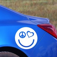 Wholesale Waterproof Car Stickers Peace Sign Love Heart Smile Face Decals Creative Art PVC Removable DIY