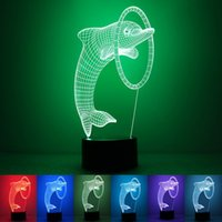 ambiance lamps - 3D Dolphin Smart Night Light Seven Colors Ambiance Lamp Freeshipping