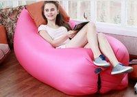 Barato Fabric sofa-Lamzac Hangout rápido inflável Lounger Air sono Camping Sofá KAISR Praia Nylon Tecido Sleeping Bag cadeira cama preguiçoso outdoor envio DHL grátis