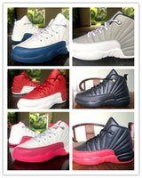 aa footwear - Air Retro XII France Blue Flu Game Children s Basketball Shoes Footwear AA High Quality Size Eur