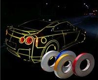automotive hub - Motorcycle Automotive Car Reflective PVC Body Wheel Hub Rim Stripe Decal Stickers