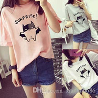 Wholesale In summer Korea new shirt short sleeved T shirt baggy Dress Lady female student polyester garment sales