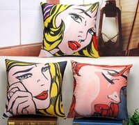 Cooling beautiful girl book - The beautiful girl crying popular POP art books pillow massager decorative pillows gift characters posture pop culture Gift