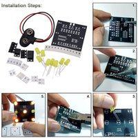 Wholesale DIY Simple Operation Kit for Random LED Touch Dice Electronic Set with LEDs