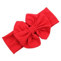 Wholesale Durable Big Bowknot Baby Girls Cotton Children Kids Headbands Hair Accessories Fast Shipping