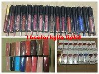Wholesale 16 color HOT Kylie Lip Kit by kylie jenner Velvetine Liquid Matte Lipstick Lip Pencil Lip Gloss Set color