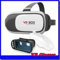 Wholesale Google Cardboard VR BOX Pro1 Version Virtual Reality D Glasses Smart Bluetooth Wireless Remote Control Gamepad