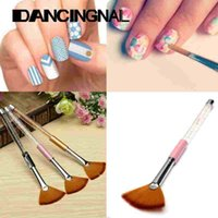 Wholesale 3 Colors Nail Art Brushes Crystal DIY Professional Tools Acrylic UV Gel Builder Painting Drawing Desigh Pen Polish Brush Kit