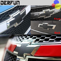 Wholesale For Chevrolet Cruze MALIBU Aveo Grille Logo outside accessories black carbon fiber Car head tail protection decorative stickers