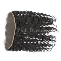 best lace frontals - 13x4 Lace Frontal Closures Unprocessed Brazilian Deep Wave Human Hair Cheap Lace Frontals Free Part With Bleached Knots A Best Quality